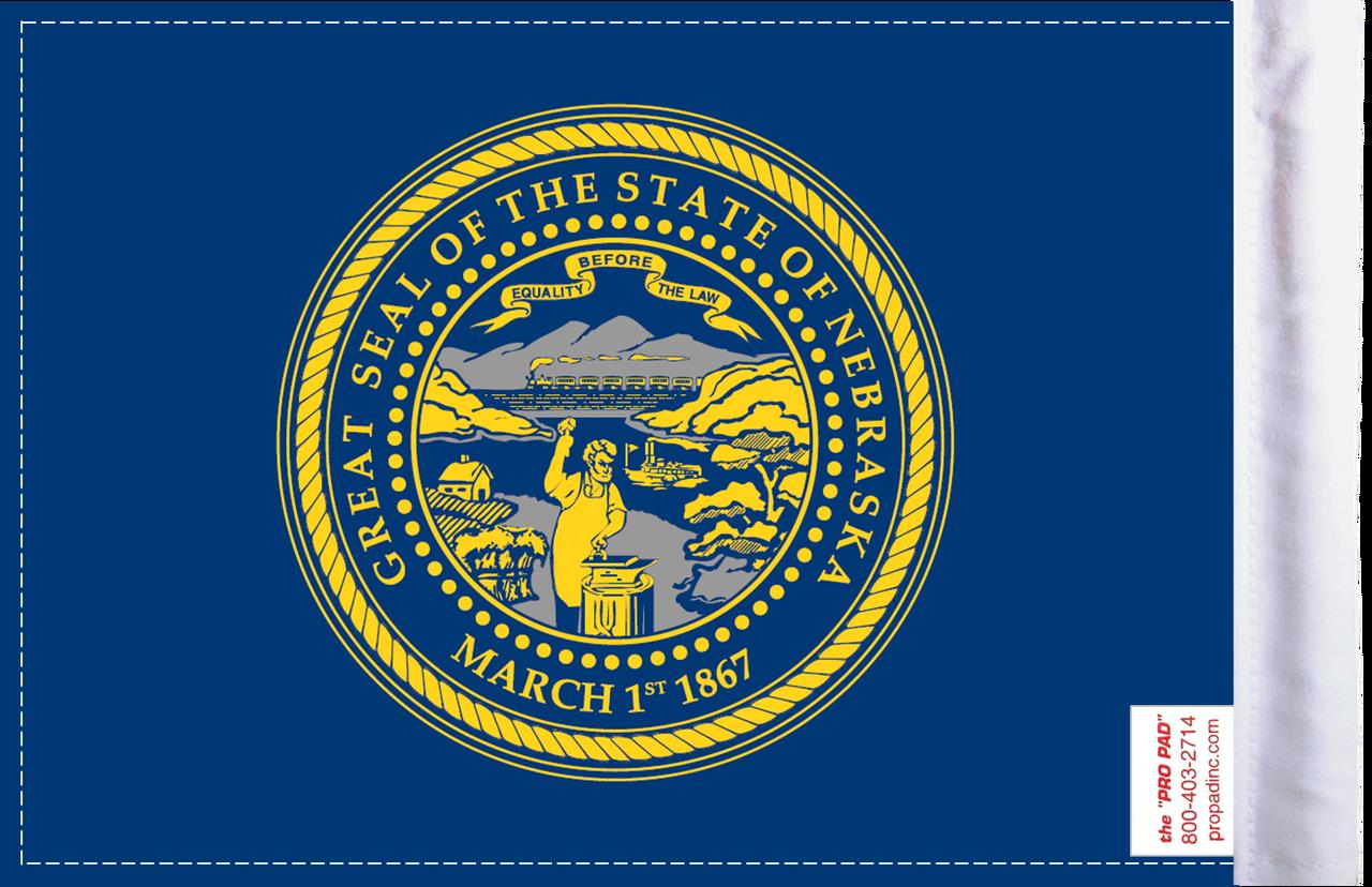 FLG-NE  Nebraska Flag 6x9 (BACK)