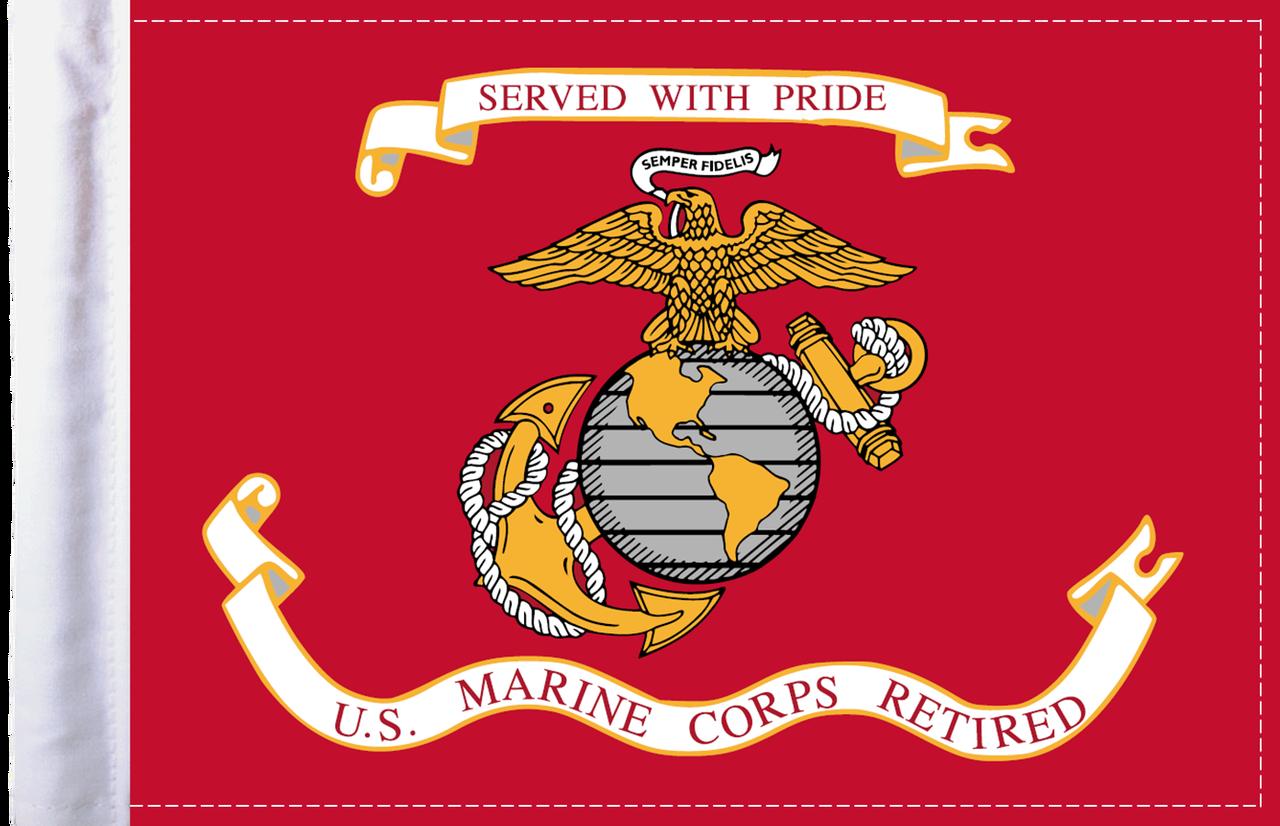 U.S. Marine Corps RETIRED Motorcycle Flag c05f7165e10