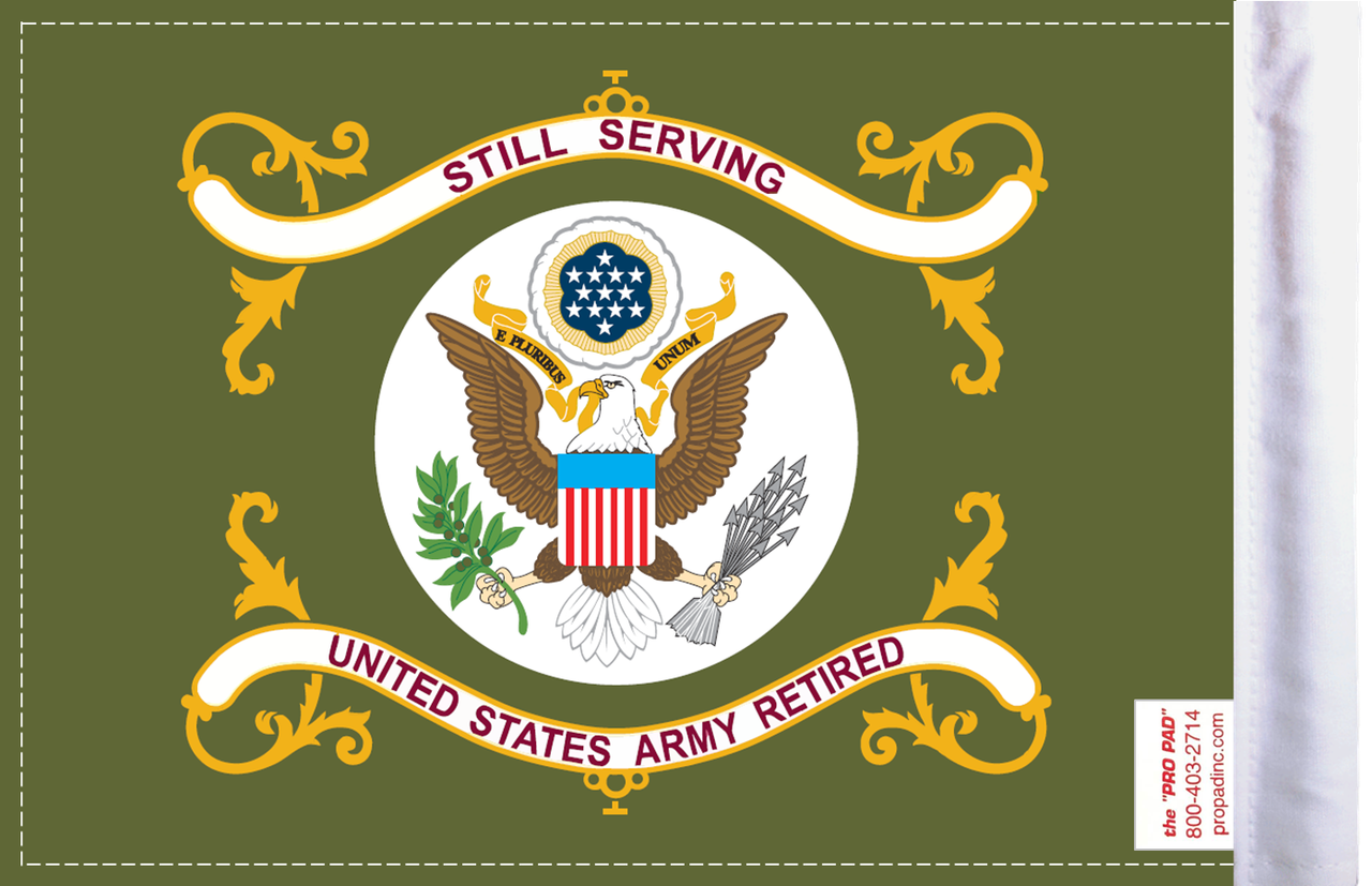 FLG-RTARM  Army RETIRED 6x9 flag (BACK)