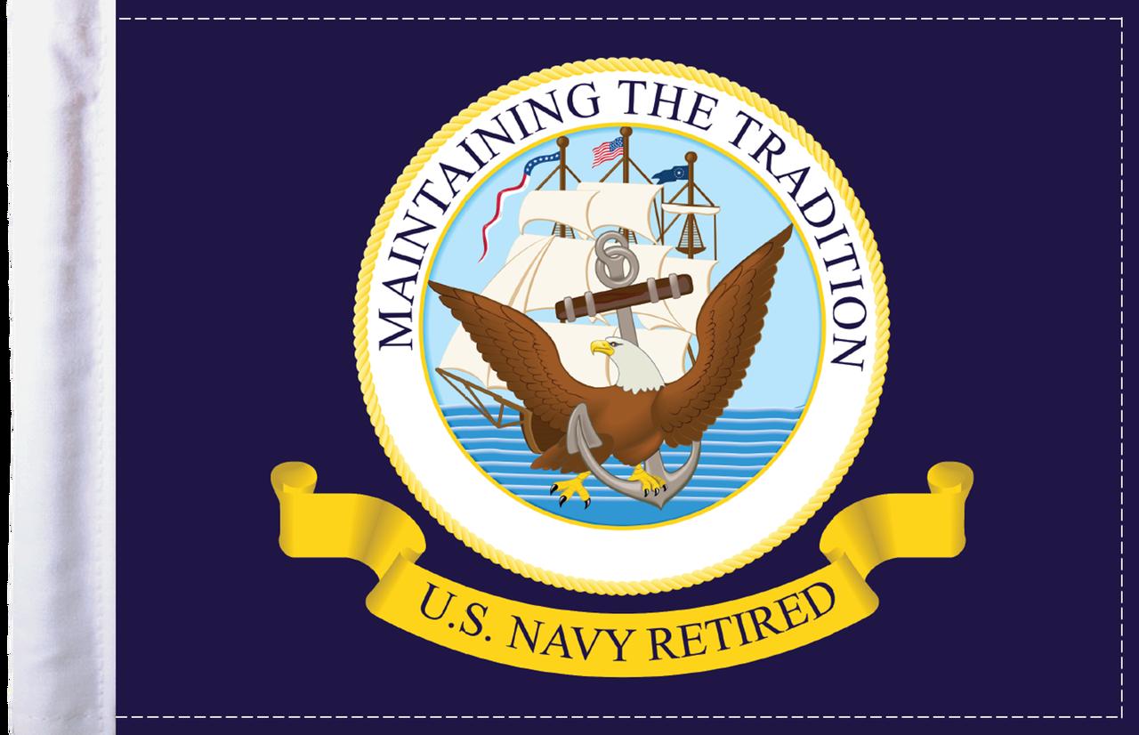 FLG-RTNAV  Navy RETIRED 6x9 flag