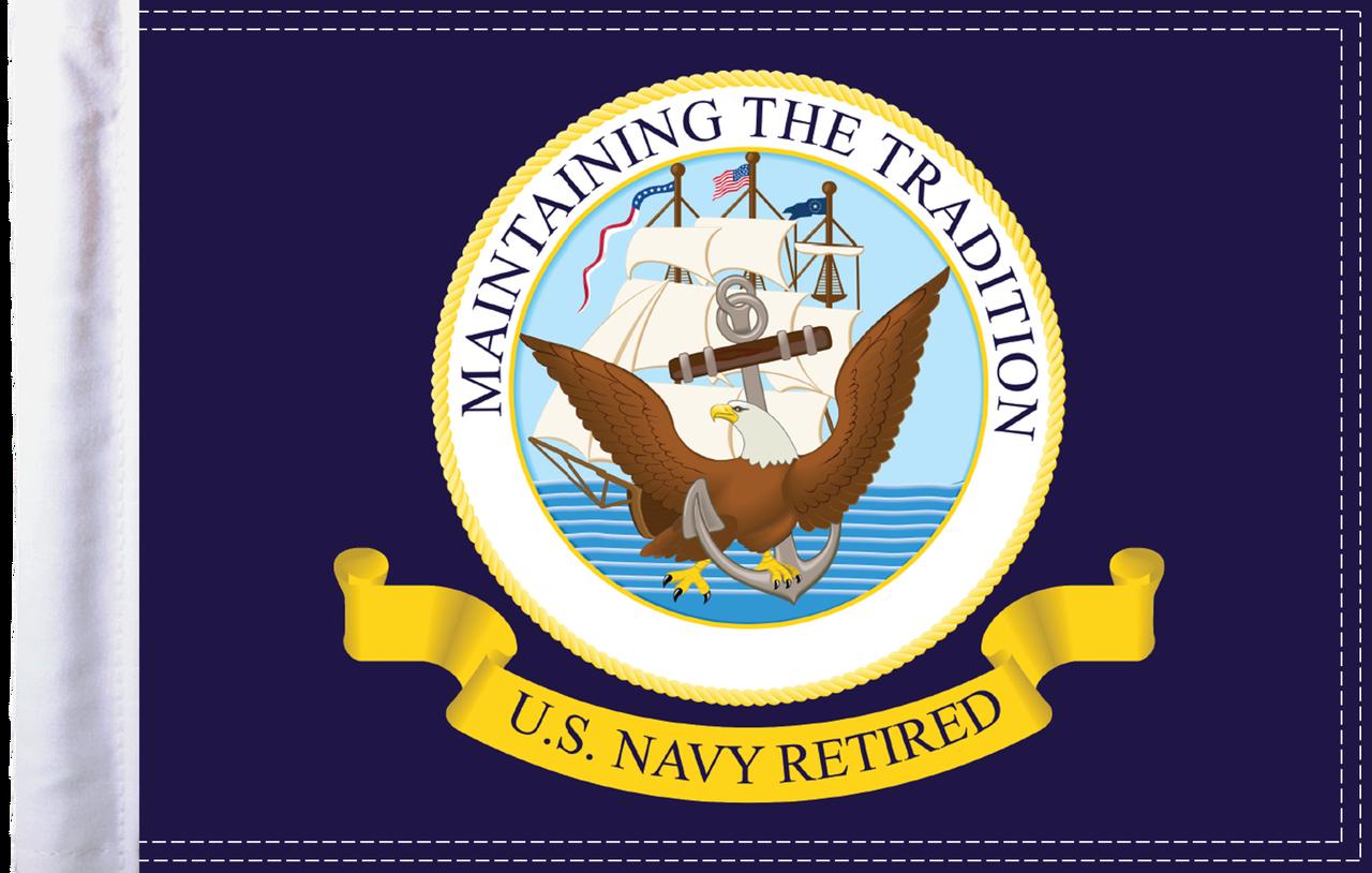 FLG-RTNAV15 Navy RETIRED flag 10x15