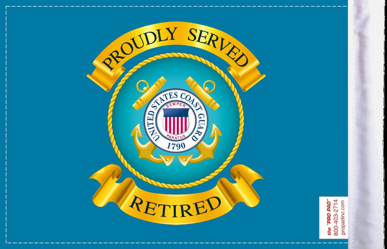 FLG-RTCGD  Coast Guard RETIRED 6x9 flag (BACK)