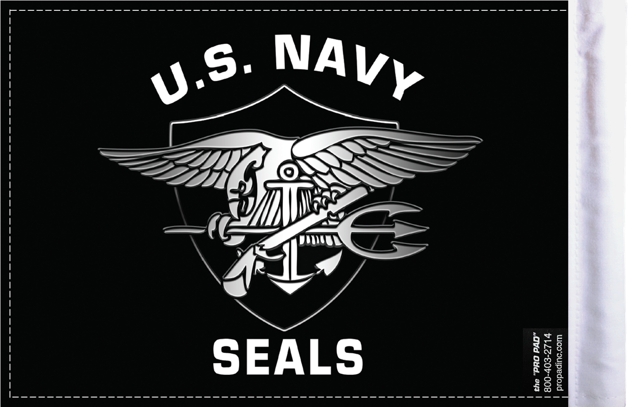 FLG-NVSEAL  Navy Seals 6x9 Flag (BACK)