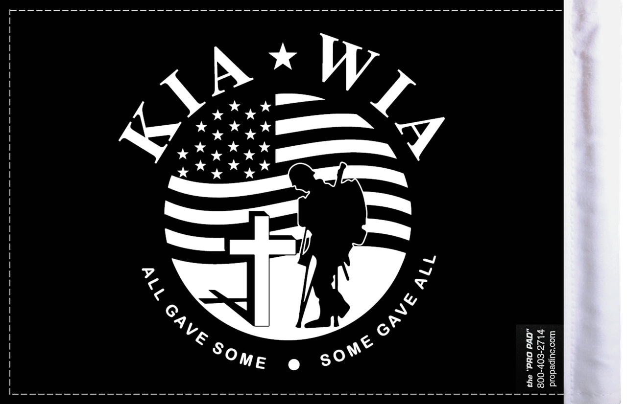 FLG-KIA  Killed in Action 6x9 flag (BACK)