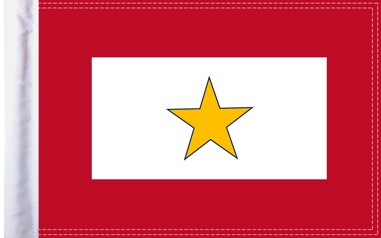 FLG-GS15  Gold Star Service flag 10x15