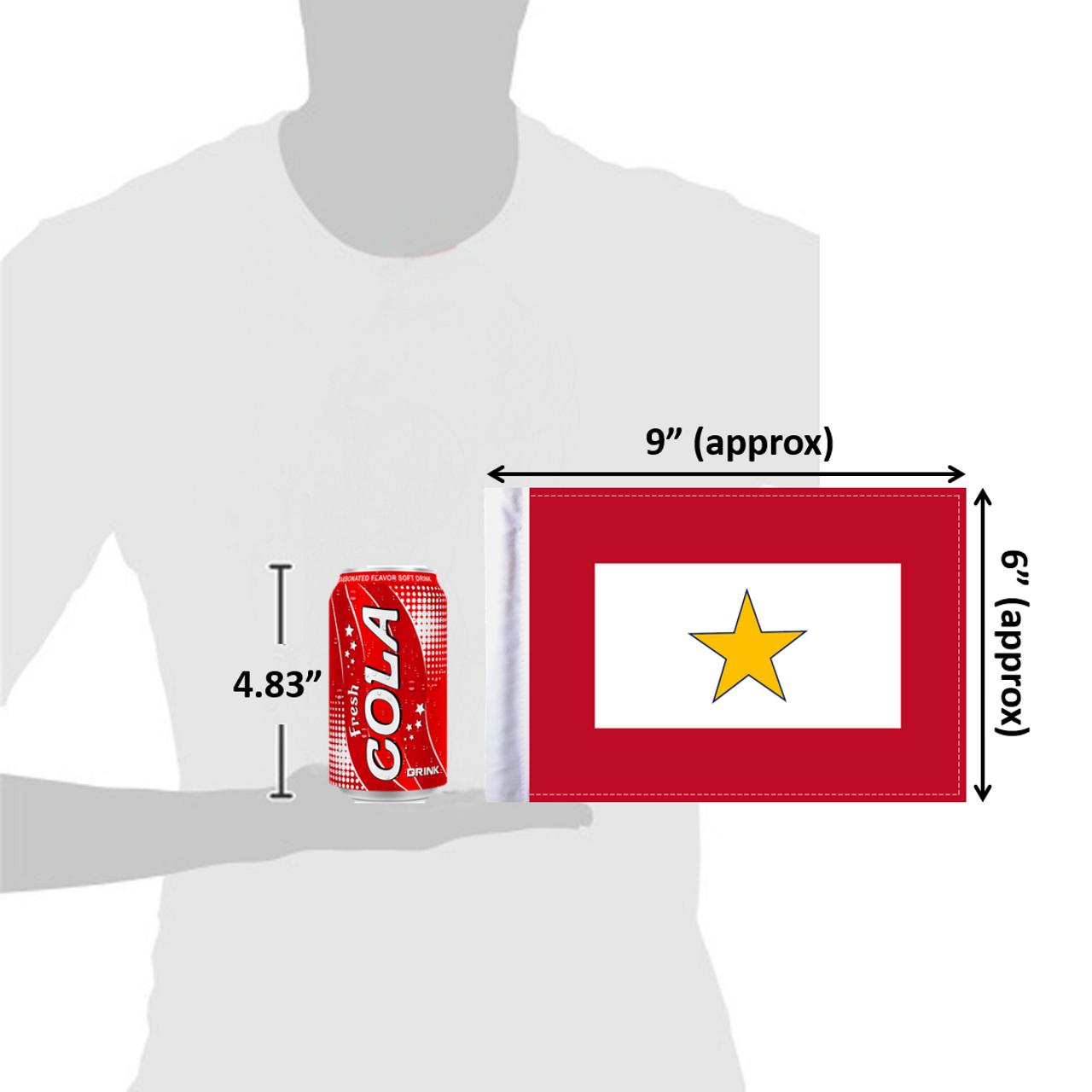 "6""x9"" Gold Star Service flag (size comparison view)"