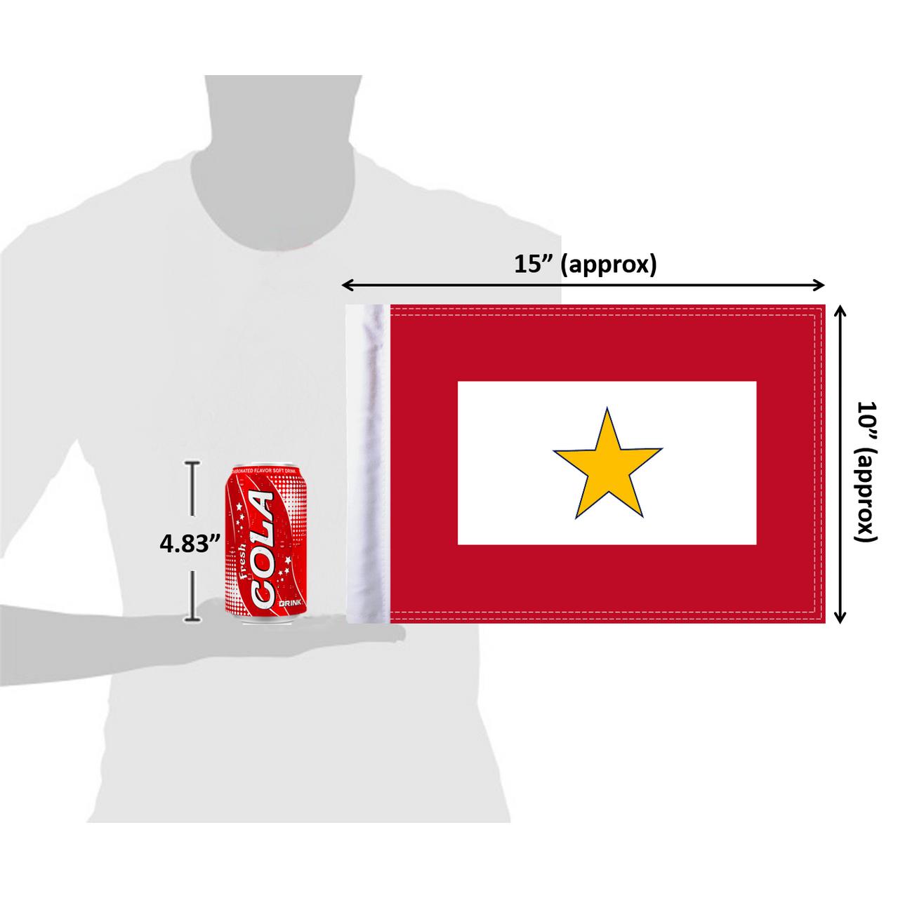 "10""x15"" Gold Star Service flag (size comparison view)"