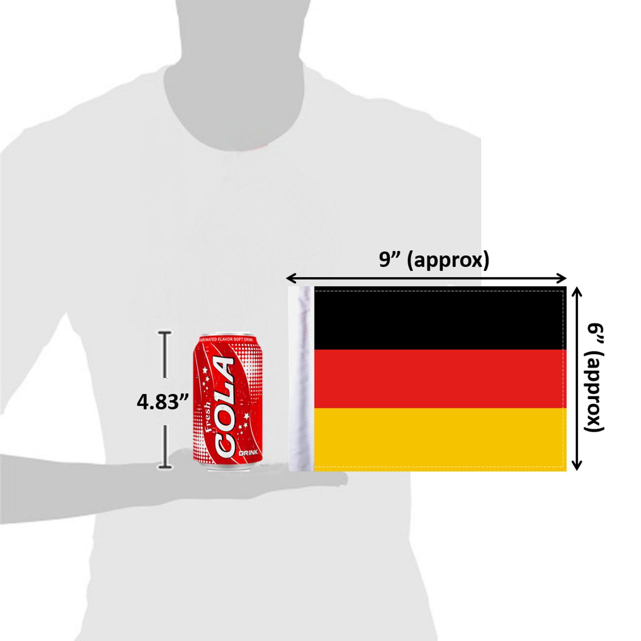 "6""x9"" Germany flag (size comparison view)"