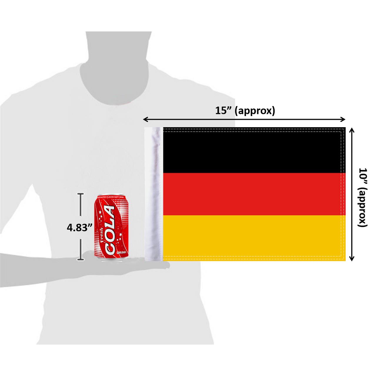 "10""x15"" Germany flag (size comparison view)"