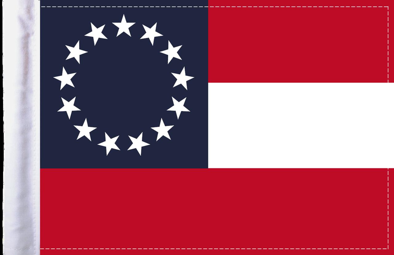 FLG-CSB Confederate Stars and Bars 6x9 flag