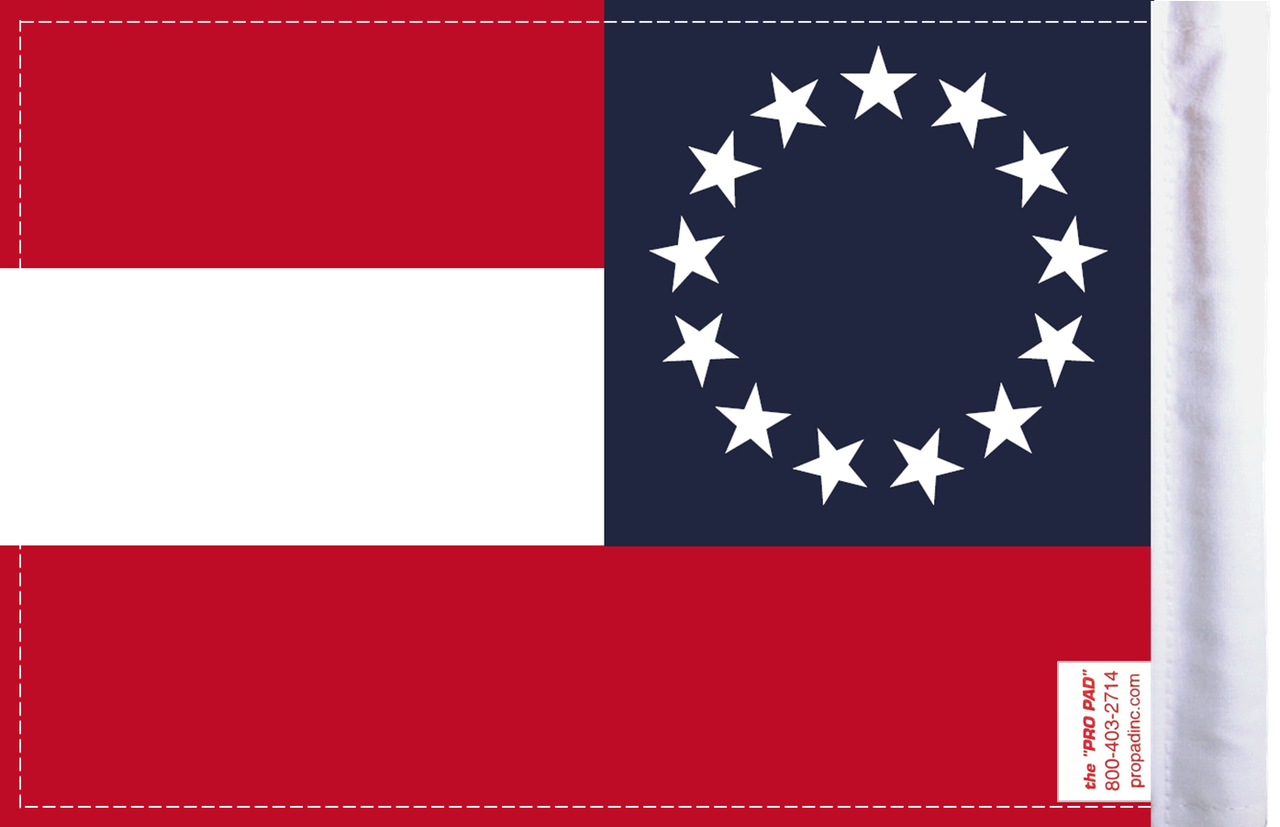 FLG-CSB Confederate Stars and Bars 6x9 flag (BACK)