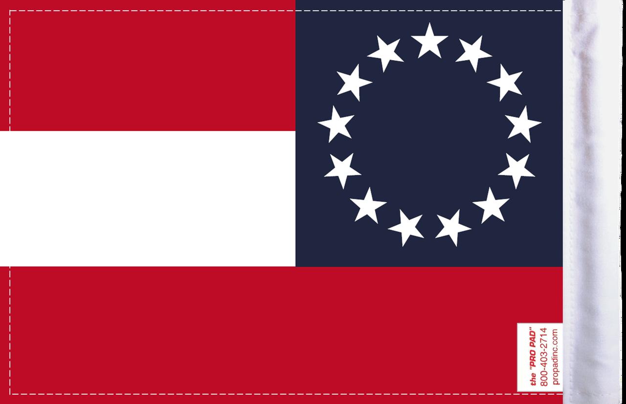 FLG-CSB Confederate Stars and Bars 6x9 flag (BACK)