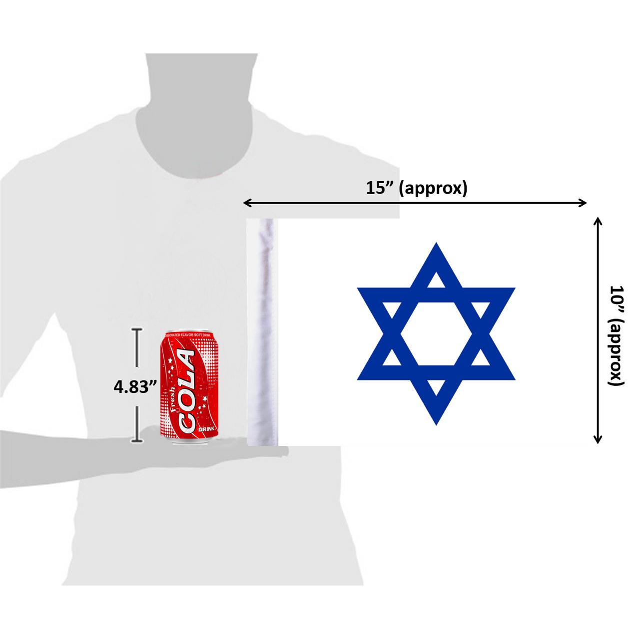 "10""x15"" Star of David flag (size comparison view)"