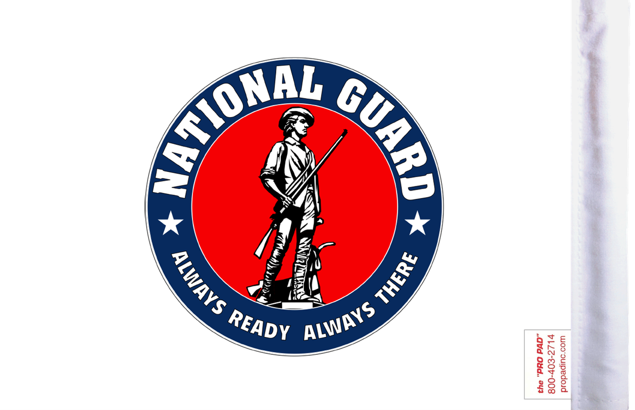 FLT-NATGD  National Guard 6x9 flag (BACK)