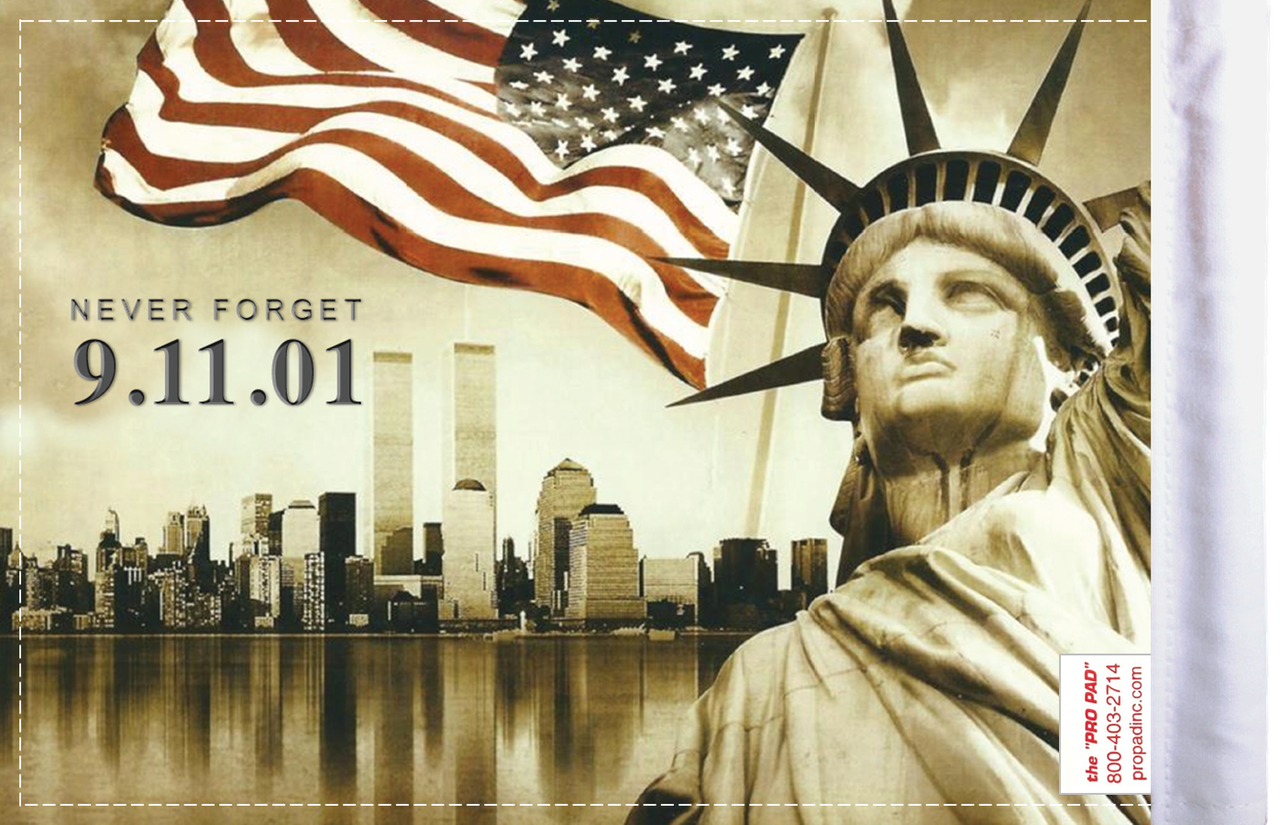 FLG-911  9.11 Never Forget 6x9 flag (BACK)