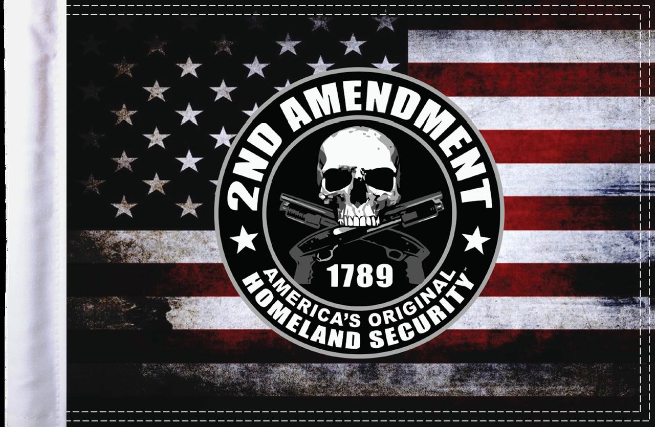 FLG-HS2AMND15 Homeland Security Second Amendment flag 10x15