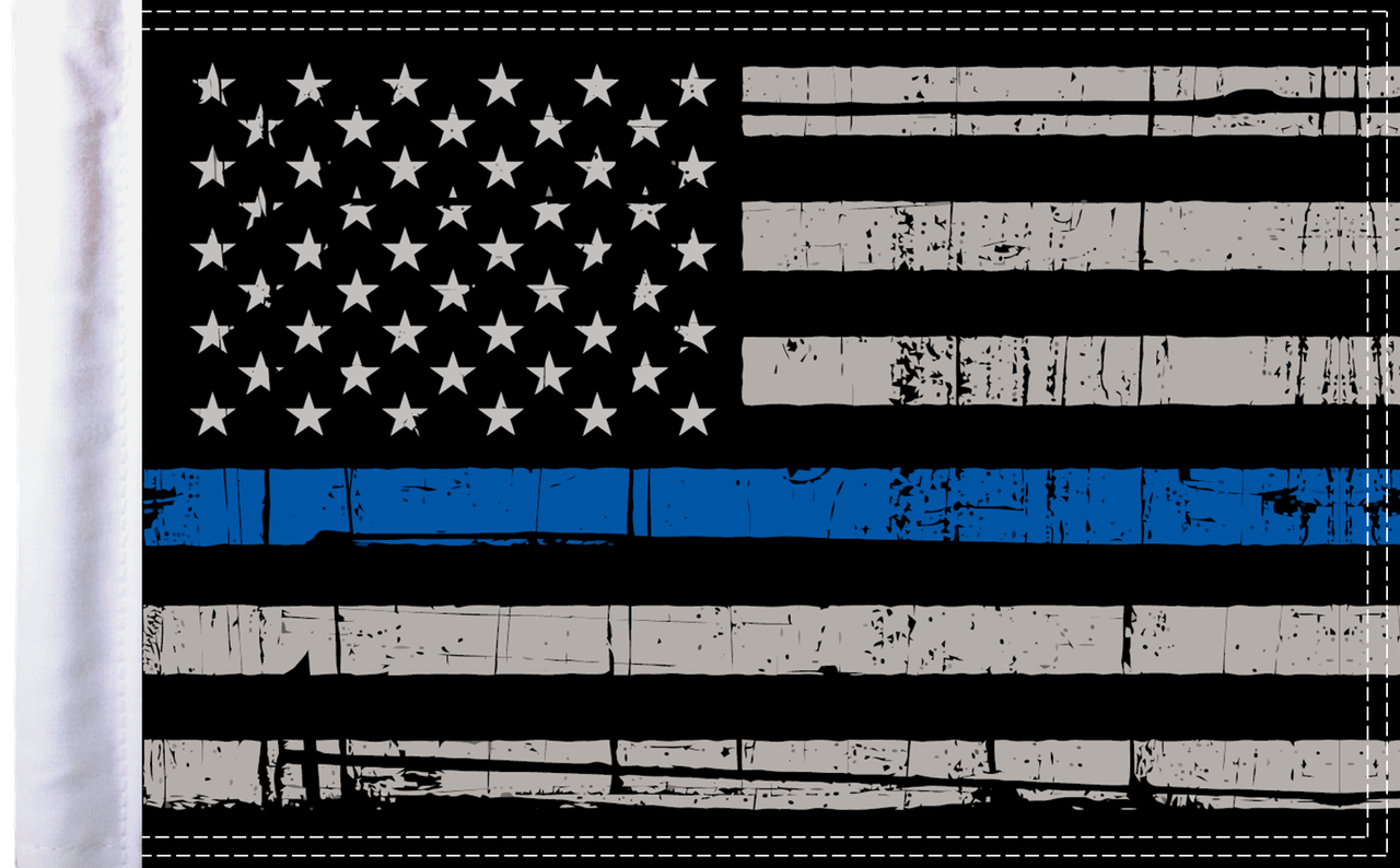FLG-PTBL15  USA Grunge Thin Blue Line flag 10x15