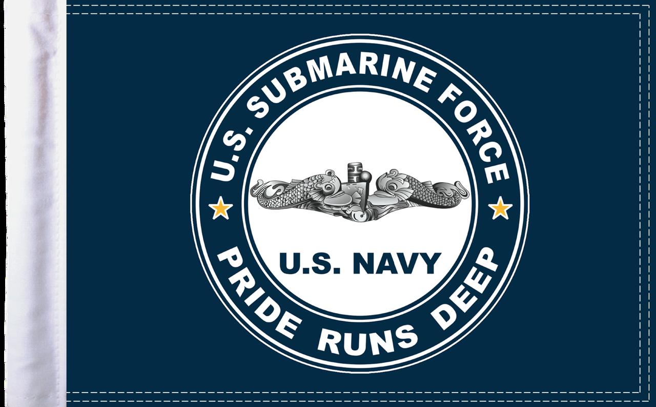FLG-NVSUB15 Navy Submarine flag 10x15
