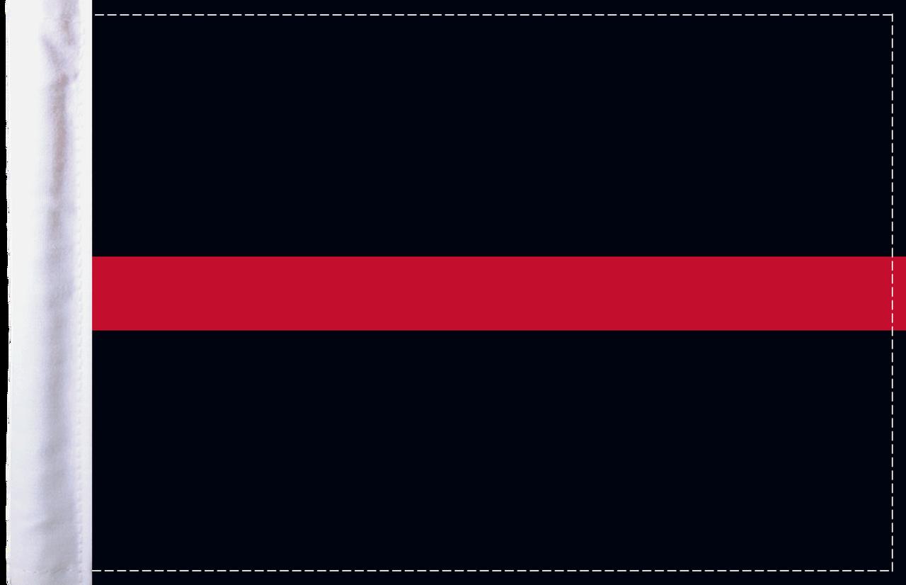 FLG-TRL-FIRE  Firefighter Thin Red Line 6x9 flag