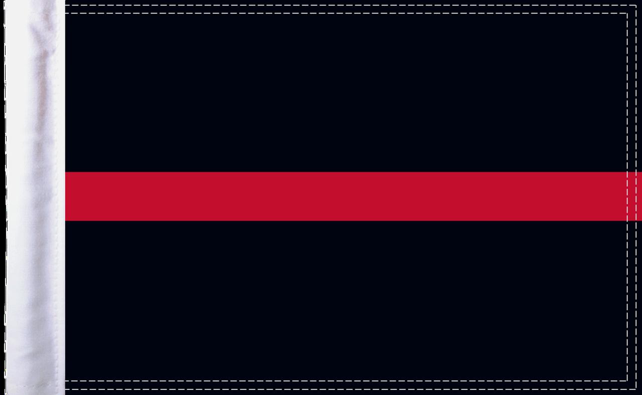 FLG-TRL-FIRE15  Firefighter Thin Red Line flag 10x15