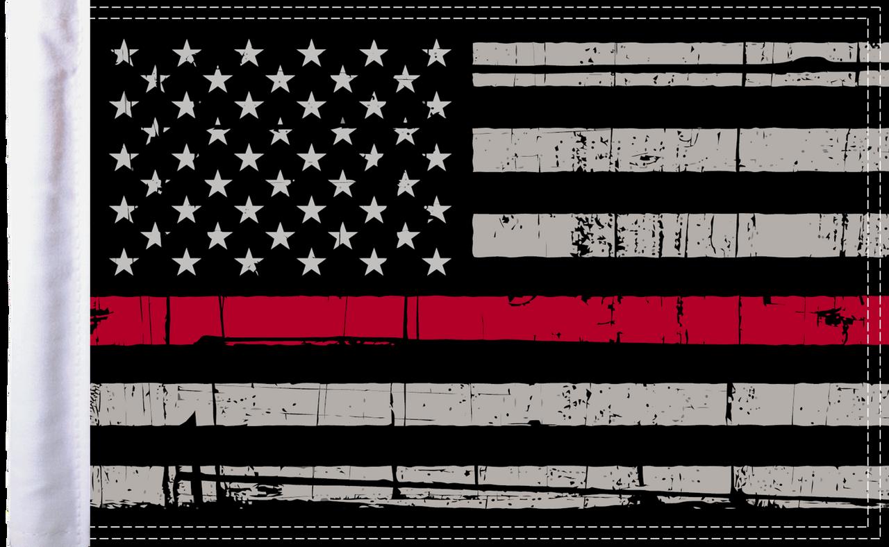 "FLG-GTRL-US Grunge USA Red Line 10""x15"" flag"