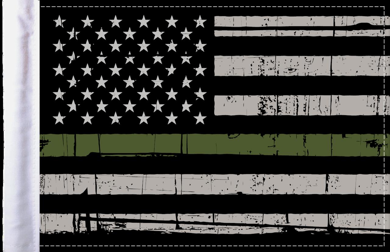FLG-GMGL  Grunge US Military Green Line 6x9 flag