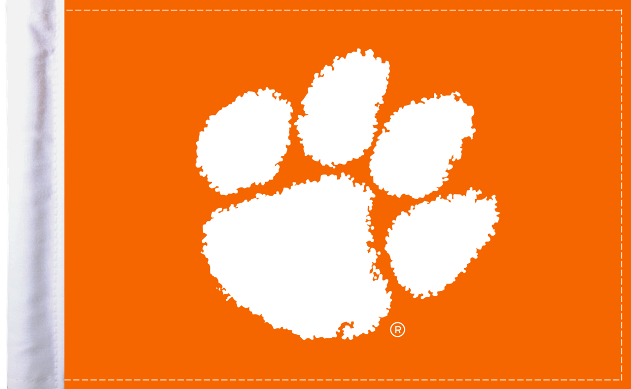 """Clemson Tigers 6""""x9"""" Motorcycle Flag"""