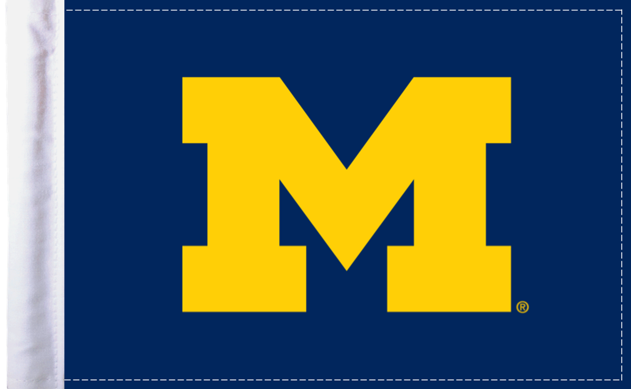 "Michigan Wolverines 6""x9"" Motorcycle Flag"