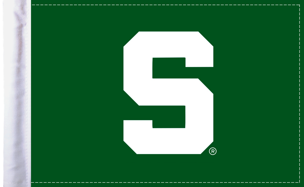 """Michigan State Spartans 6""""x9"""" Motorcycle Flag"""