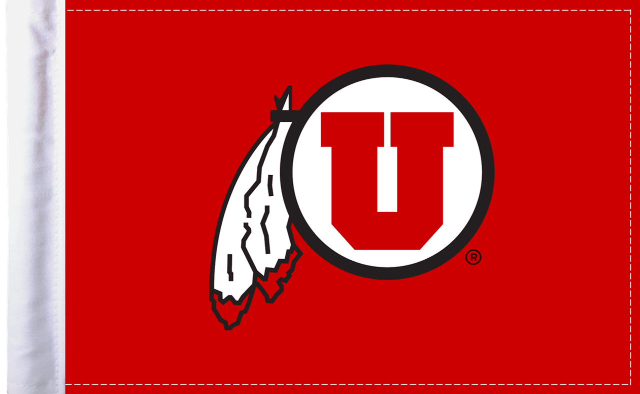 "Utah Utes 6""x9"" Motorcycle Flag"