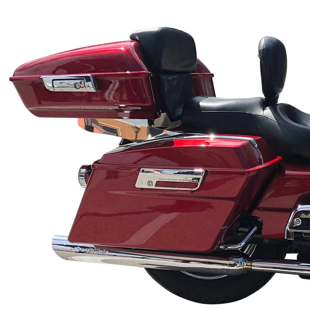 1999 Harley classic with the 97-08 sissy bar tour pack rack