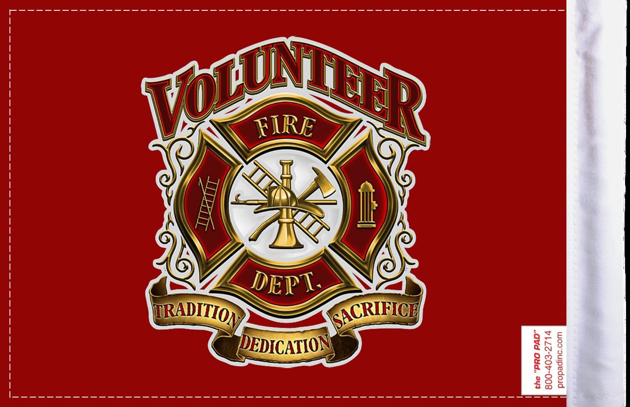 FLG-VFD  Volunteer Fire Dept 6x9 flag (BACK)