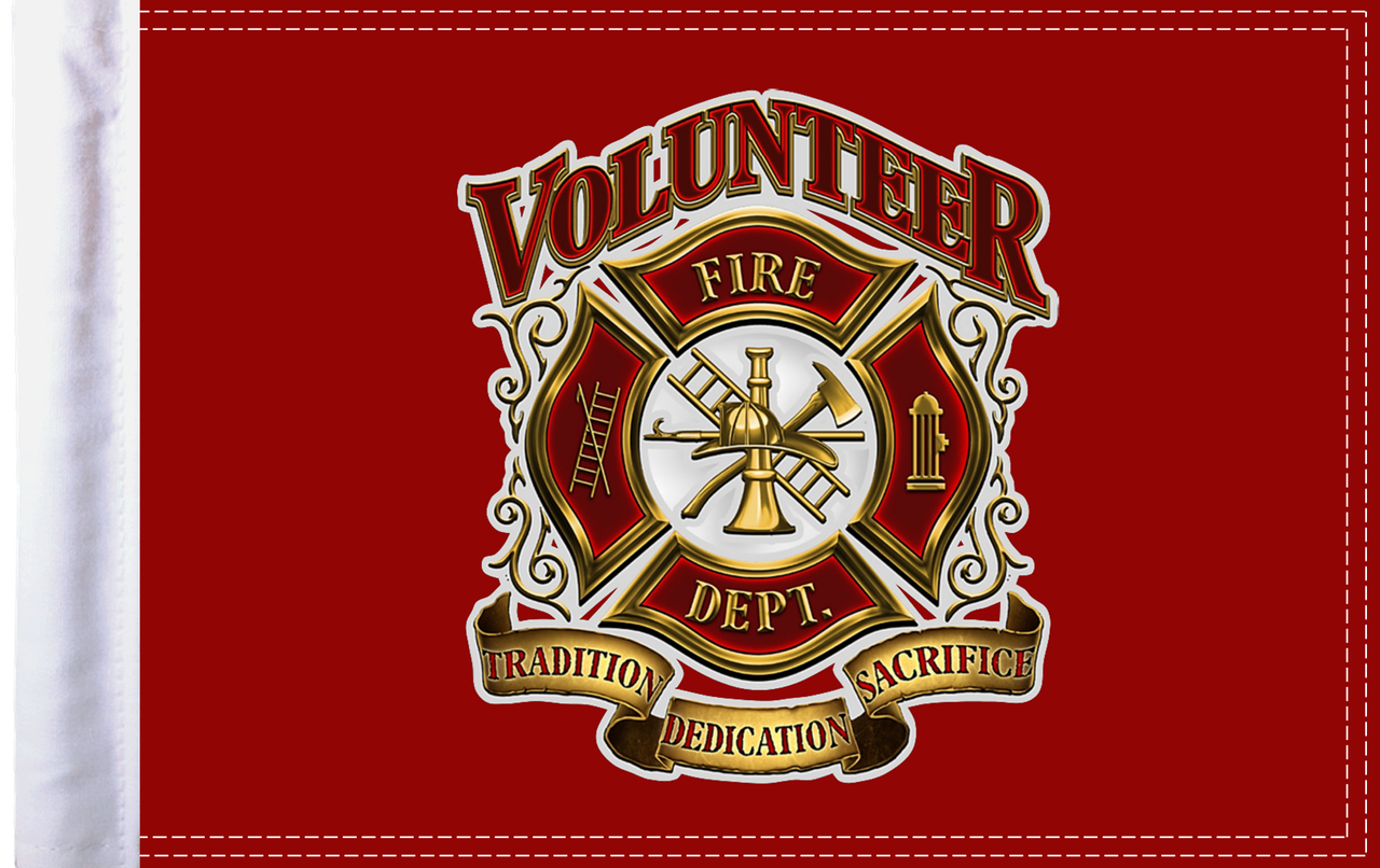 FLG-VFD15 Volunteer Fire Dept flag 10x15