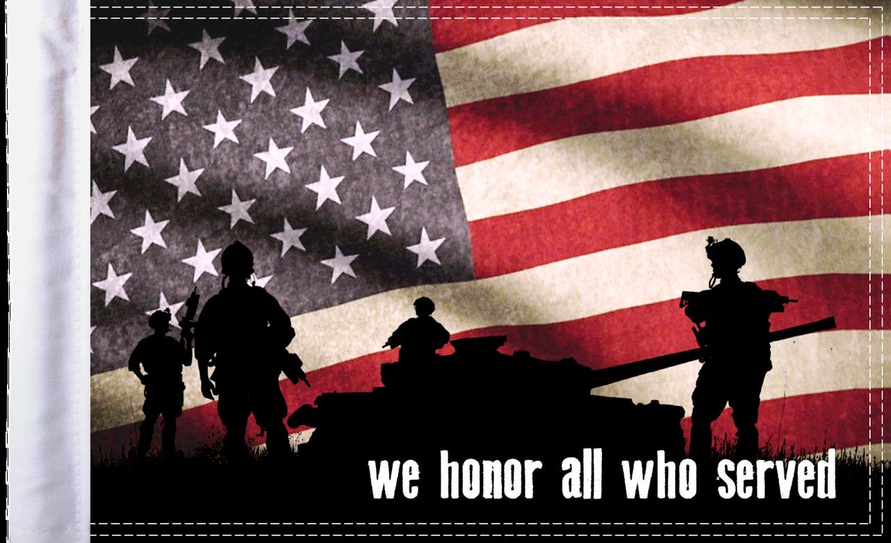 FLG-HONOR15 We Honor All flag 10X15