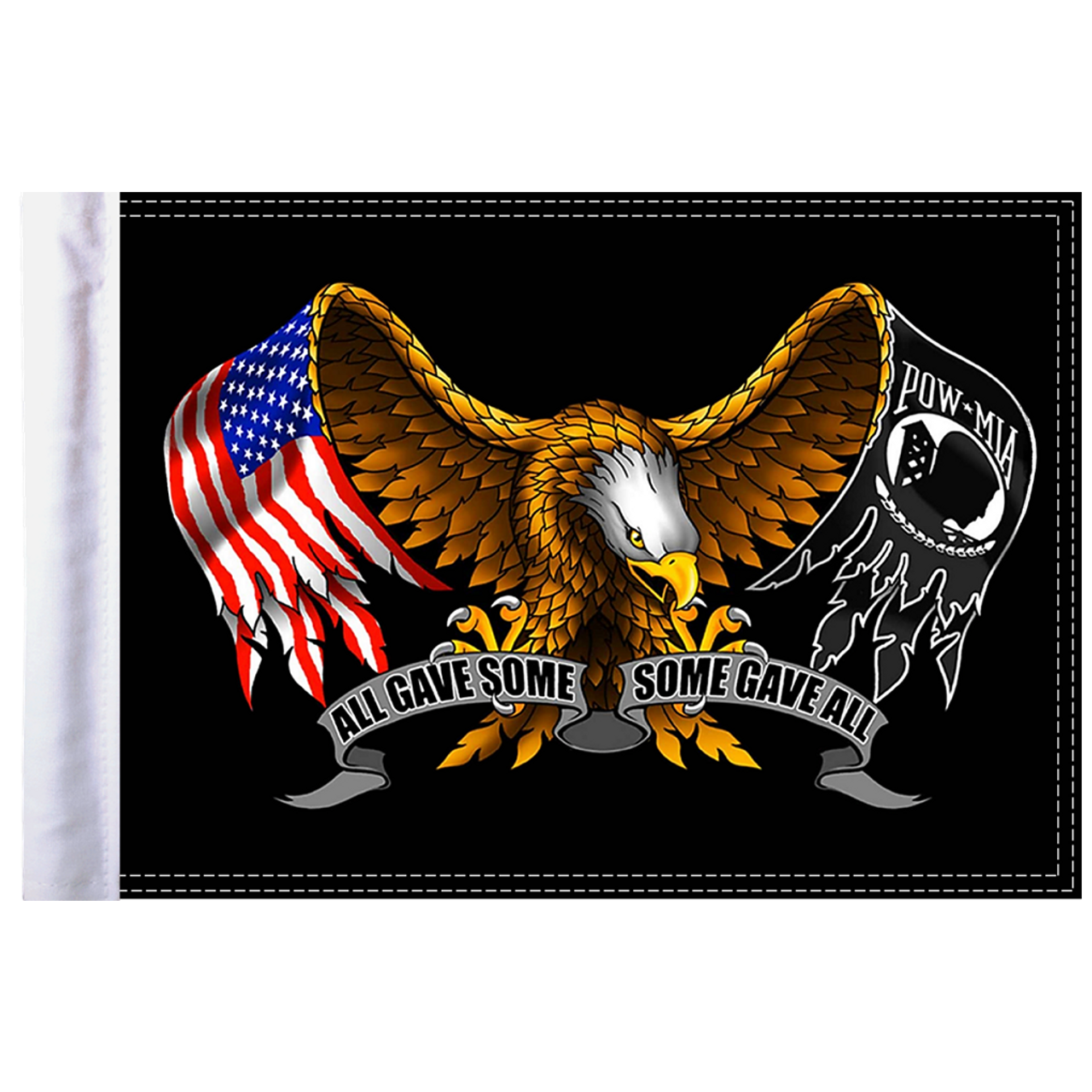 "10""x15"" Parade flag:  Some Gave All - Eagle"