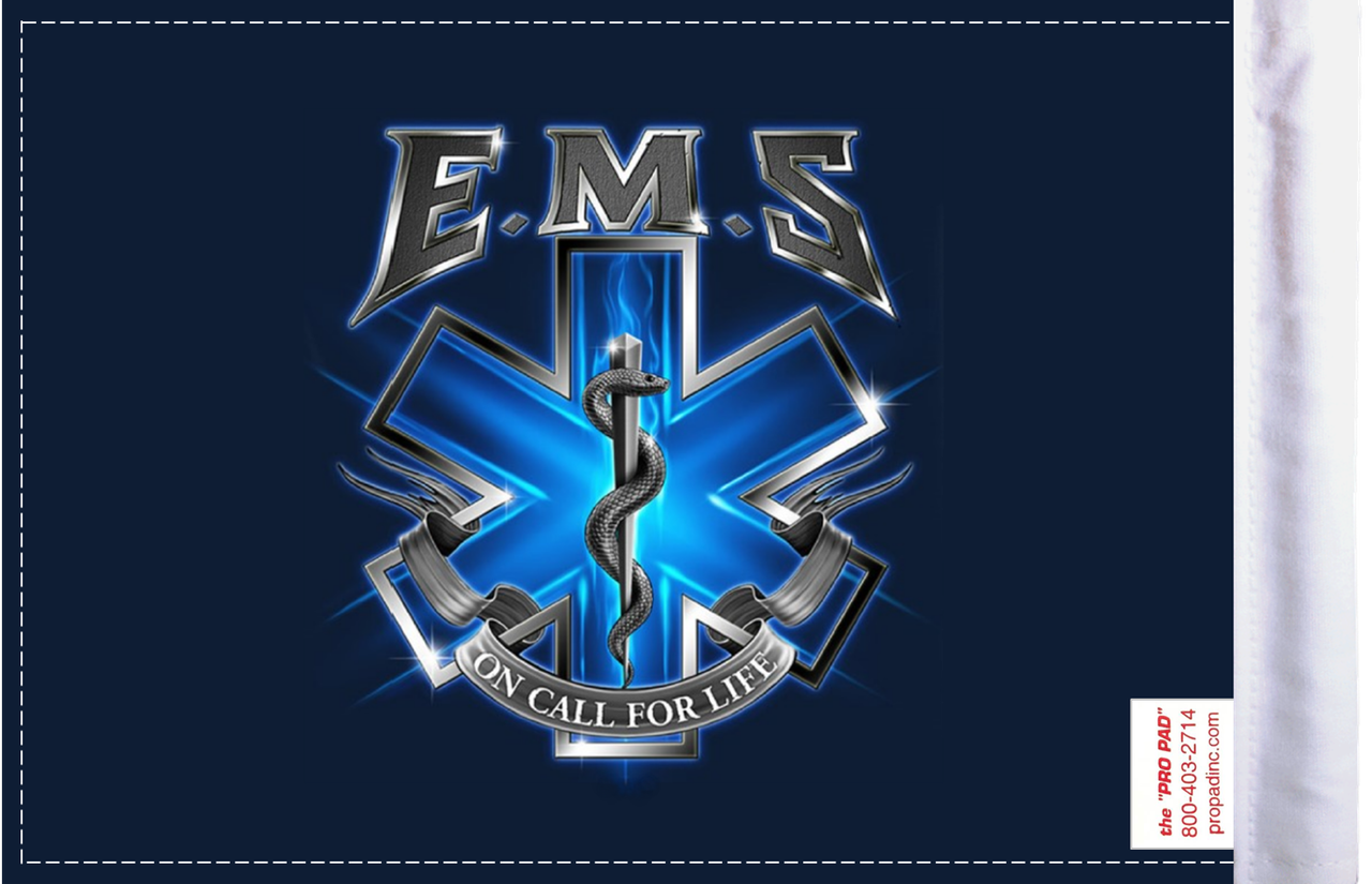 FLG-EMSOC  EMS On Call for Life 6x9 flag (BACK)