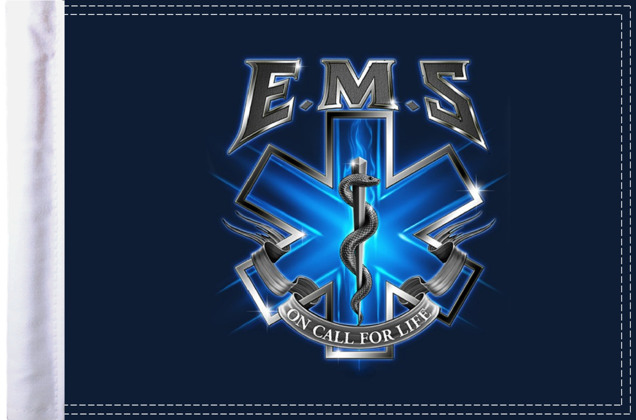 FLG-EMSOC15  EMS On Call for Life 10x15 flag