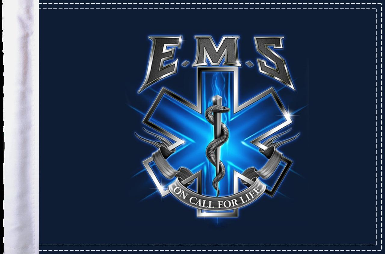 FLG-EMSOC15  EMS On Call for Life 10x15 flag