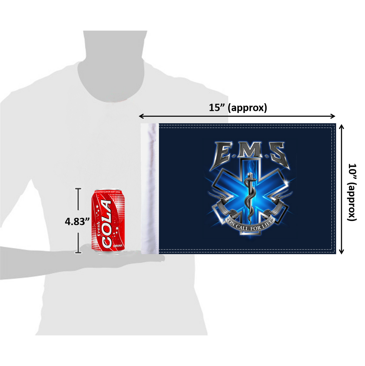 10x15 EMS On Call for Life (size comparison view)