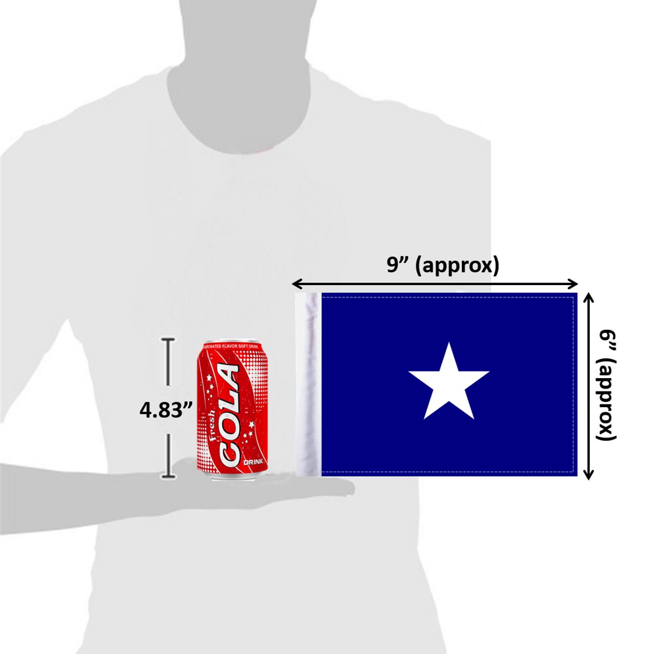 """6""""x9"""" Bonnie Blue (size comparison view)"""