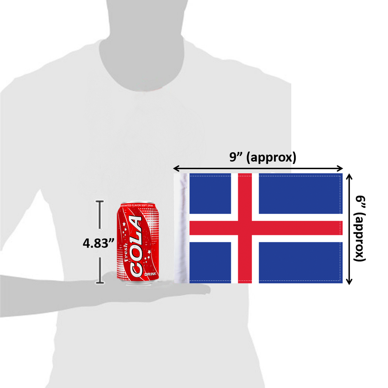 "6""x9"" Iceland (size comparison view)"