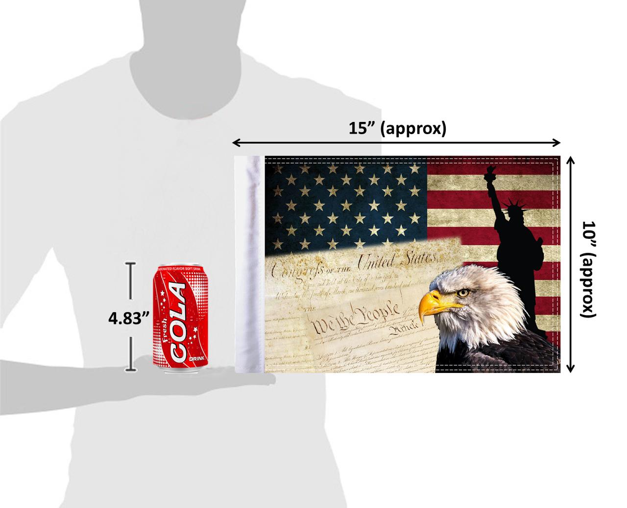 "10""x15"" USA Eagle & Constitution (size comparison view)"
