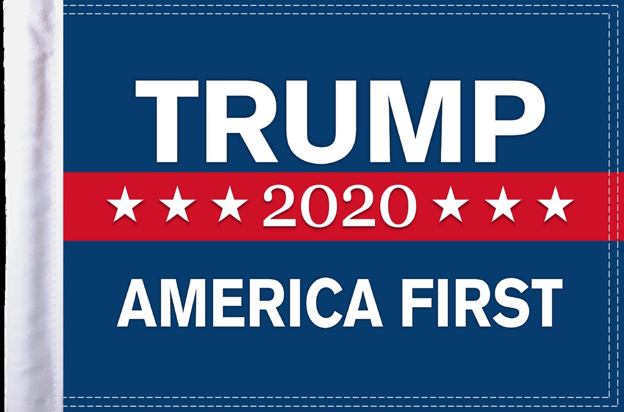 FLG-TRUMP15  America First Trump 2020 parade flag 10x15
