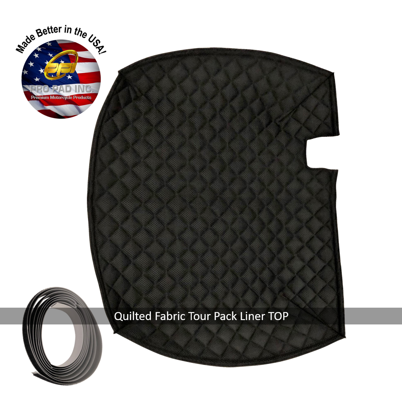 Quilted Fabric TOP Tour Pack Liner with velcro