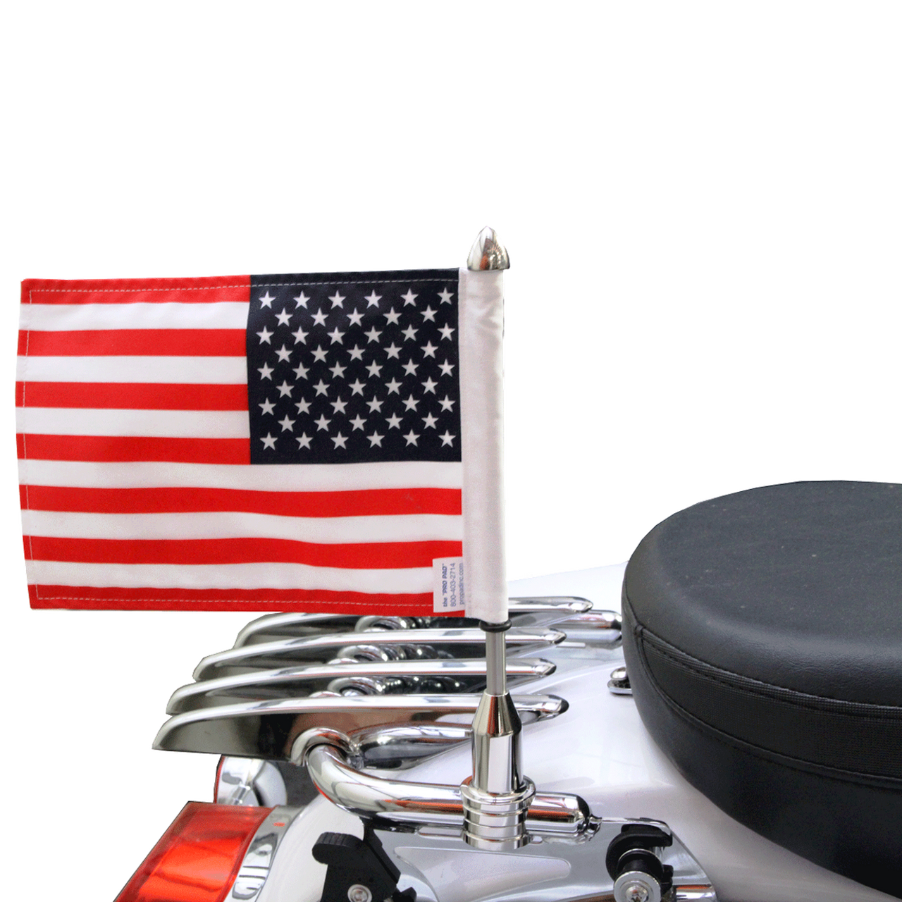 Motorcycle Finland Tail Luggage Rack Black Steel Pole Flag For Harley Custom