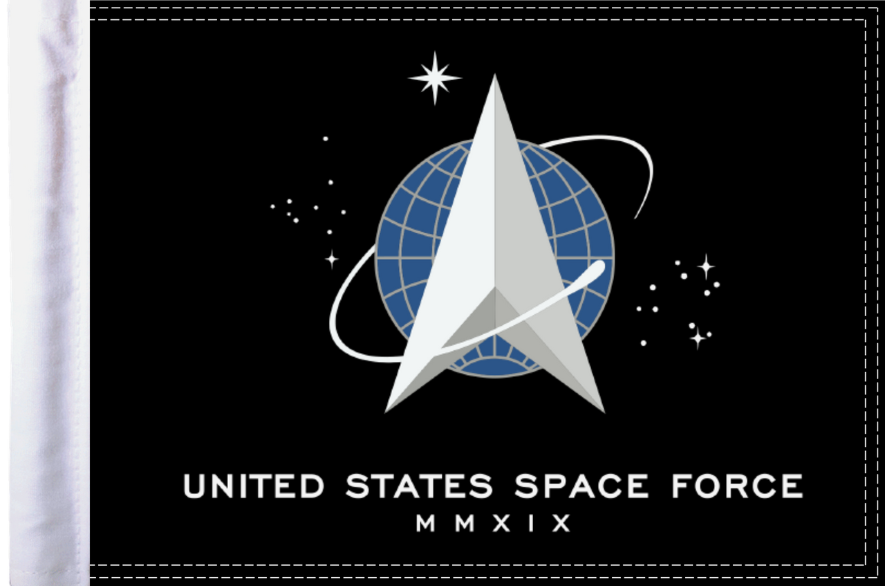 """10""""x15"""" Parade flag:  U.S. Space Force"""