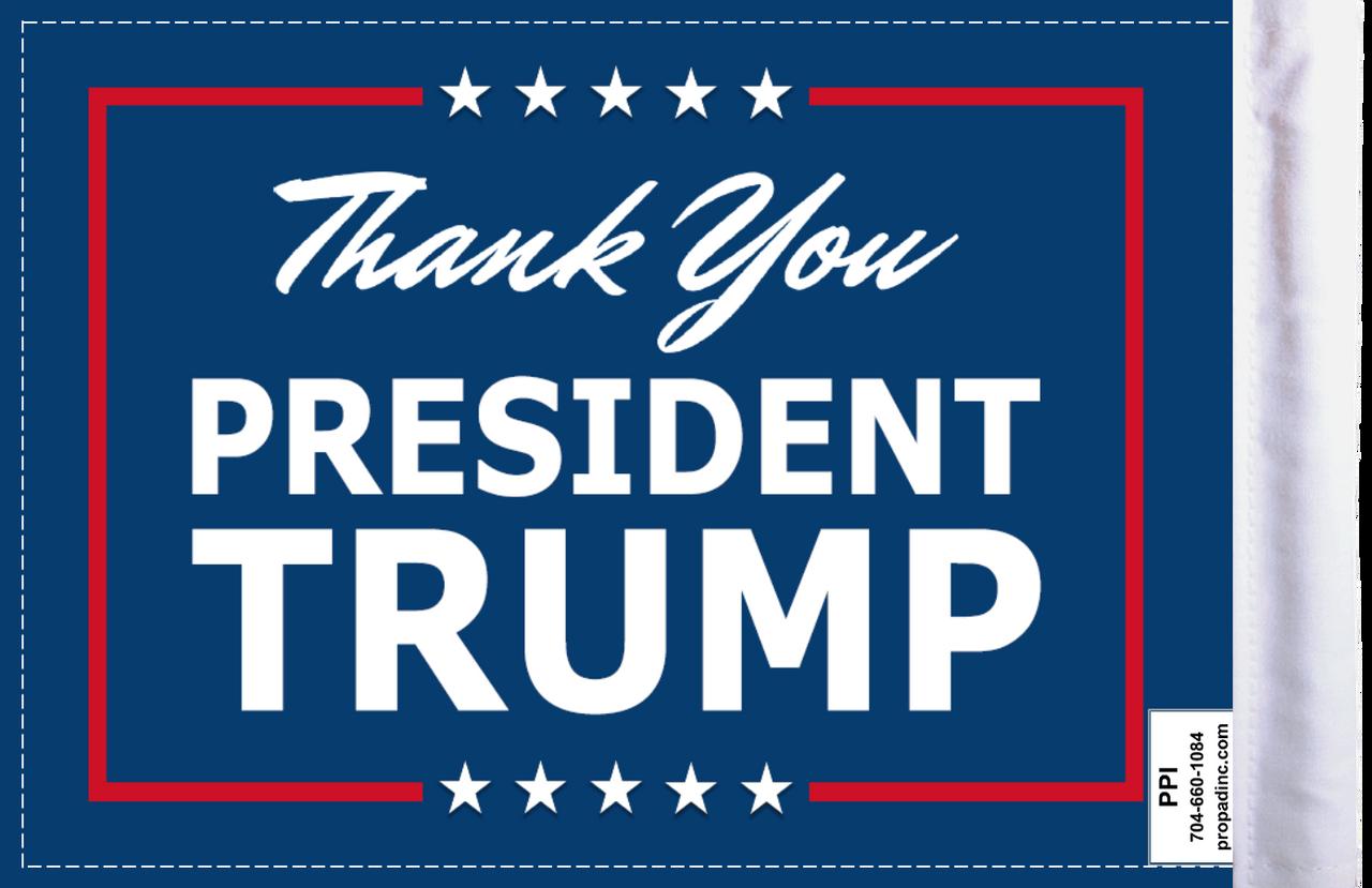 FLG-TYPTRMP  Thank You President Trump flag 6x9 (BACK)