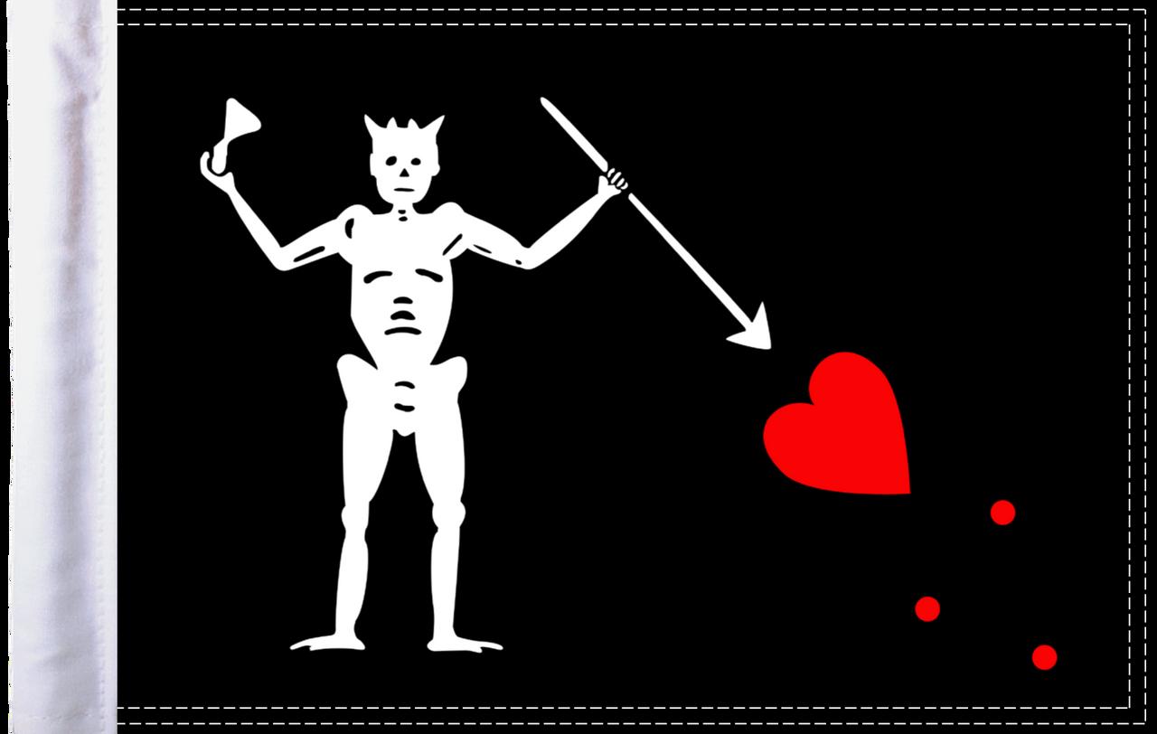 FLG-PRTBB15 Blackbeard's Pirate 10x15 parade flag