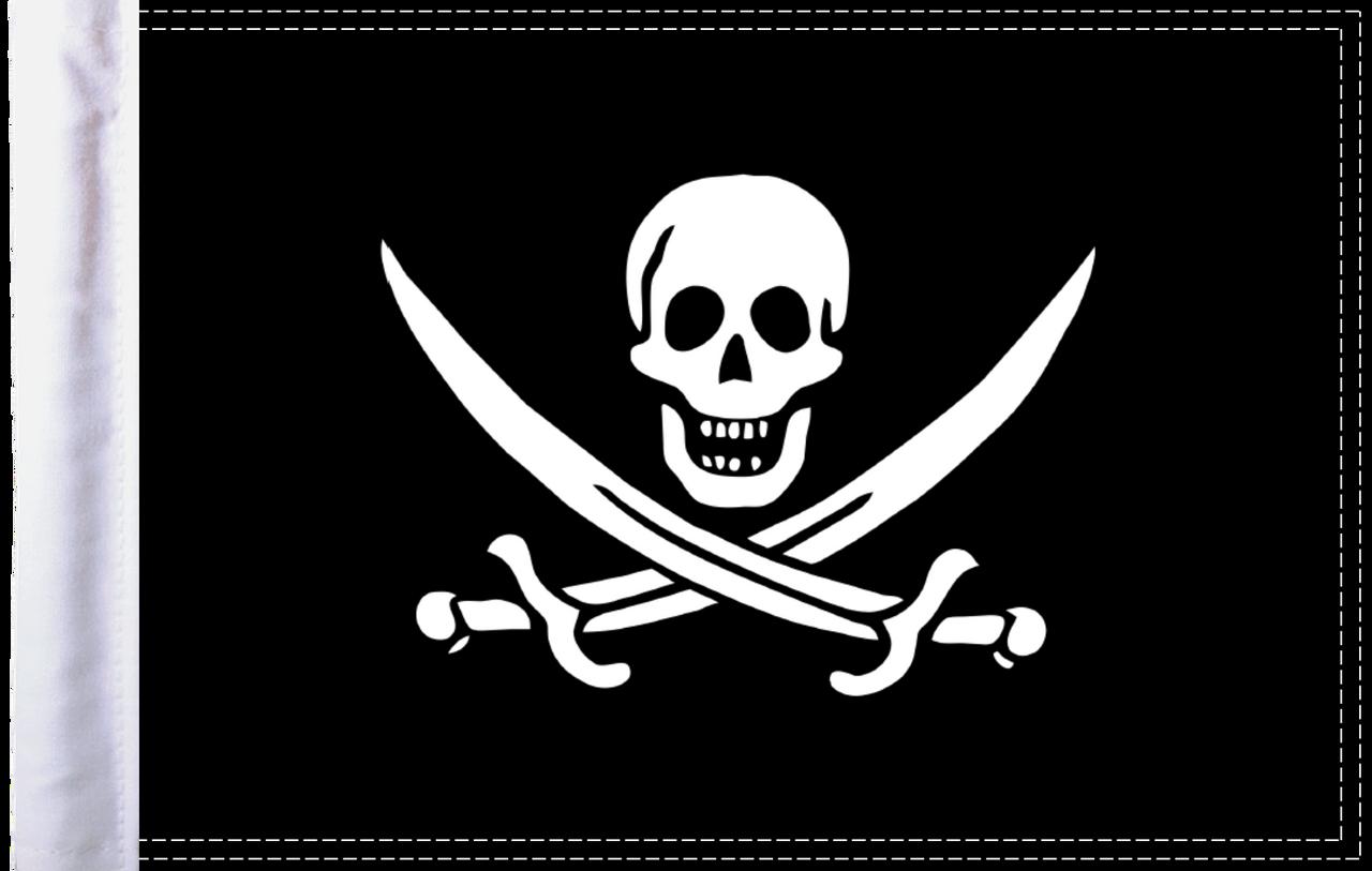 FLG-PRTCJ15 Calico Jack Rackham Pirate 10x15 highway flag