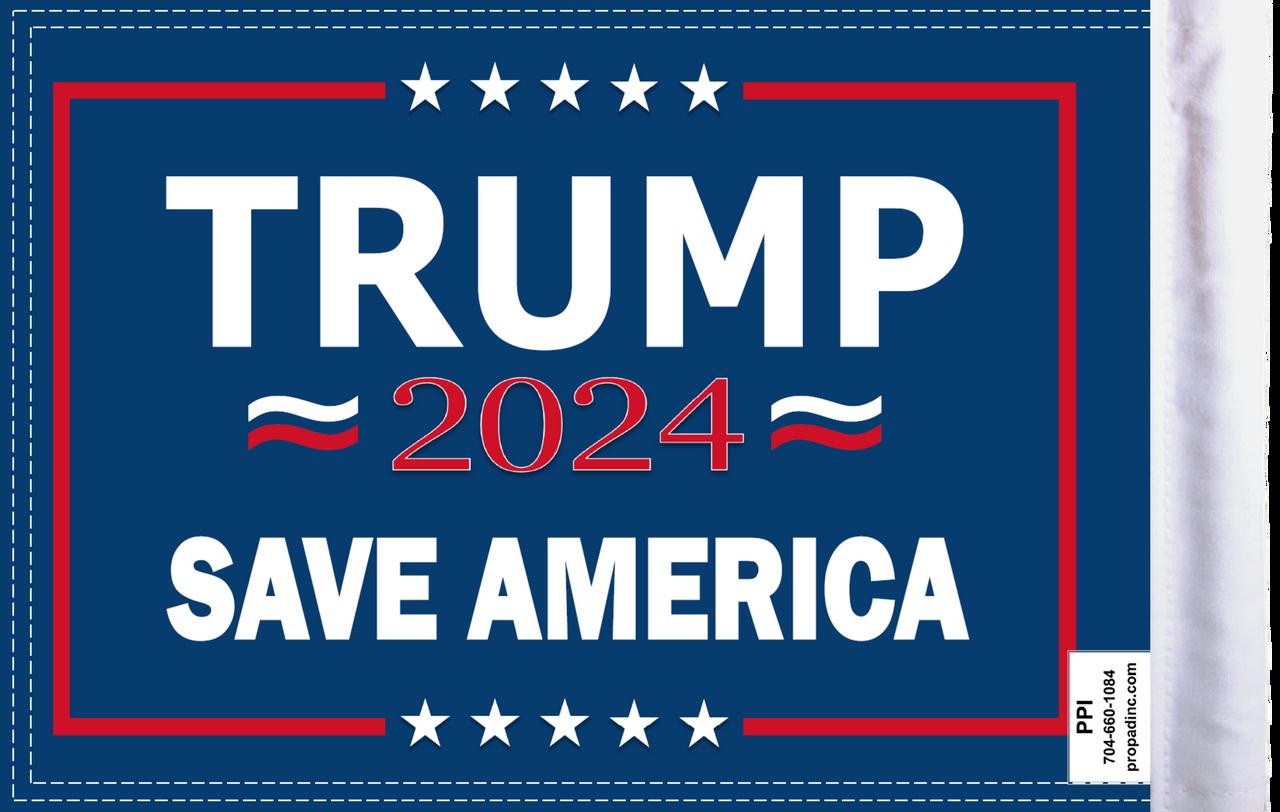 FLG-TRMPSA15  Trump 2024 Save America flag 10x15 (BACK)